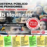 UGT en Castilla- La Mancha llama a la participación en las movilizaciones que tendrán lugar en la región los días 13, 14 y 15 de abril por unas #PensionesDignas