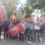 22 de mayo.  Jornada de lucha sindical: Éxito de las concentraciones convocadas por UGT y CCOO ante las sedes de la patronal en la región