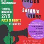 UGT, CCOO Y CSIF convocan una macroconcentración el domingo 27 en Madrid por los derechos de las empleadas y los empleados públicos en la AGE