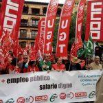 Nueva jornada de protesta con concentración en Toledo por la eliminación de la brecha salarial entre el personal laboral y el personal funcionario en la AGE