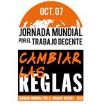 7 de octubre. Jornada Mundial por el Trabajo Decente.