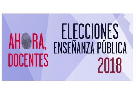 ELECCIONES SINDICALES EN ENSEÑANZA PÚBLICA. EL 4 DE DICIEMBRE VOTA UGT #AhoraDocentes