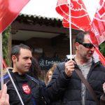 Manifestación a las puertas de Fedeto para exigir el acuerdo con la Fiscalía en siniestralidad y la creación de delegados territoriales