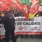 Continuan las movilizaciones en el Sector Postal. Trabajadoras Y Trabajadores de Correos piden en Toledo mejoras en sus condiciones laborales