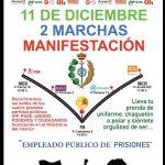 Los empleados públicos de los centros penitenciarios de Castilla-La Mancha asisten mañana a las dos marchas convocadas desde las sedes de los partidos políticos al ministerio del Interior