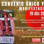 Movilizaciones el próximo día 19 por el bloqueo de la negociación del IV Convenio Único