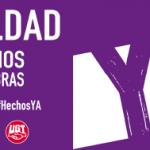 UGT llama a la participación en todas las movilizaciones convocadas en Castilla- La Mancha con motivo del 8M