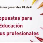 FeSP-UGT exige a los partidos políticos que la Educación sea una prioridad de Estado