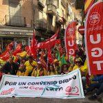 Movilizaciones en Toledo por un Convenio Digno en GEACAM