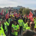 Nueva protesta en Toledo de los trabajadores del transporte sanitario que amenazan huelga indefinida si no se aplica el nuevo convenio