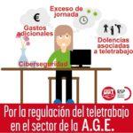 UGT defiende la regulación del teletrabajo en el sector de la AGE